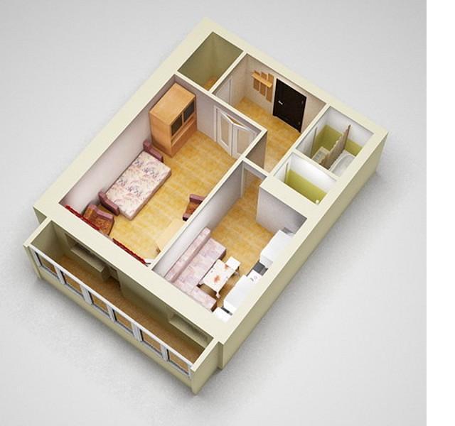 Дизайн трехкомнатной хрущевки: фото вариантов интерьера